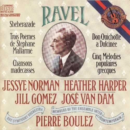 Boulez: Ravel - Sheherazade, Trois Poems de Stephane Mallarme, Chansons madecasses etc. (APE)