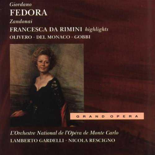 Gardelli: Giordano - Fedora, Rescigno: Zandonai - Francesca da Rimini, highlights (2 CD, FLAC)