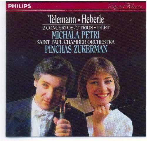 Petri, Zukerman: Telemann, Heberle - 2 Concertos / 2 Trios, Duet (FLAC)