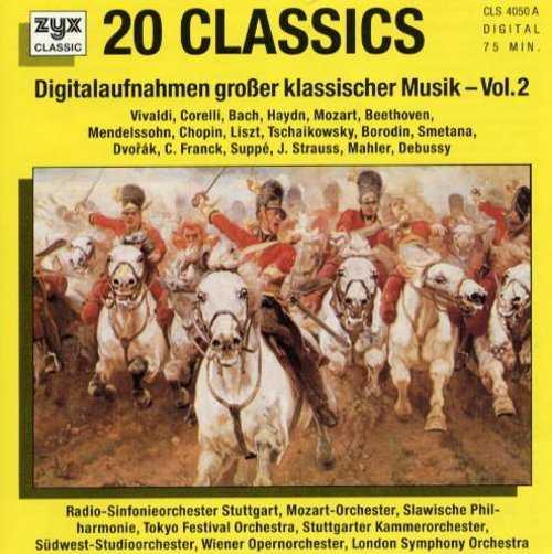 20 Classics Digitalaufnahmen grober klassischer Musik Vol.1, Vol.2 (2 CD, FLAC)