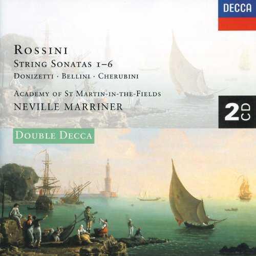 Marriner: Rossini - String Sonatas 1-6, Donizetti, Bellini, Cherubini (2 CD, APE)