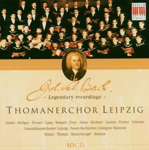 Thomanerchor Leipzig - Legendary Bach Recordings (10 CD box set, APE)