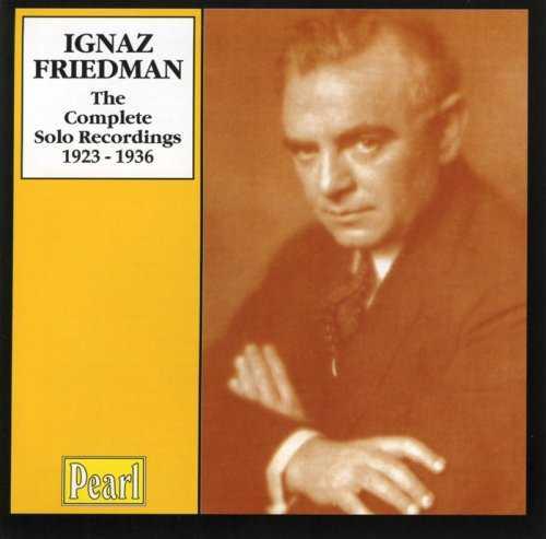 Ignaz Friedman - The Complete Solo Recordings 1923-1936 (4 CD box set, APE)