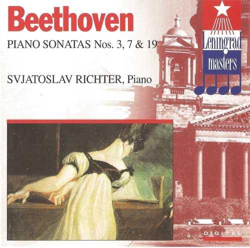 Richter: Beethoven - Piano Sonatas no.3,7,19 (FLAC)