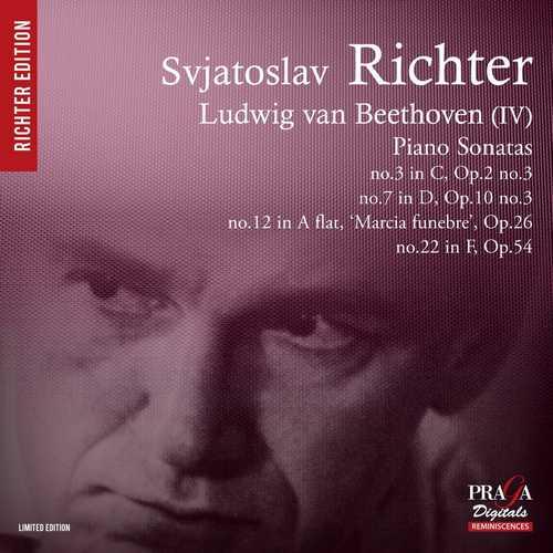 Richter: Beethoven (IV) - Piano Sonatas no. 3, 7, 12, 22 (SACD)