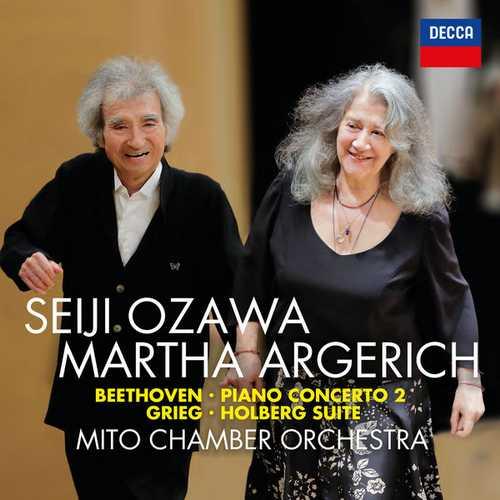 Argerich, Ozawa: Beethoven - Piano Concerto no.2, Grieg- Holberg Suite (24/96 FLAC)
