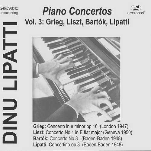 Dinu Lipatti - Piano Concertos vol.3 (24/96 FLAC)