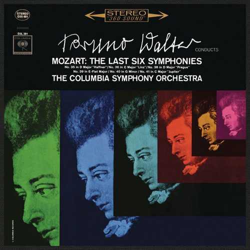 Walter: Mozart - The Last Six Symphonies. Remastered (24/96 FLAC)