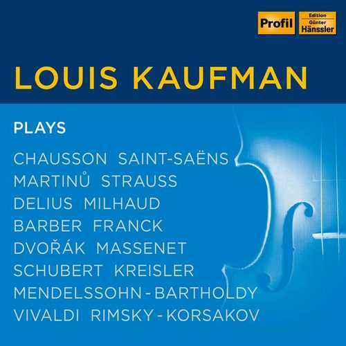 Louis Kaufman: Works with Violin (FLAC)