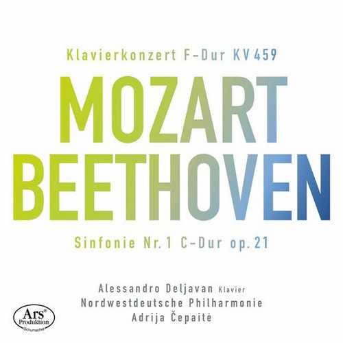 Deljavan, Čepaitė: Mozart - Piano Concerto no.19, Beethoven - Symphony no.1 (FLAC)