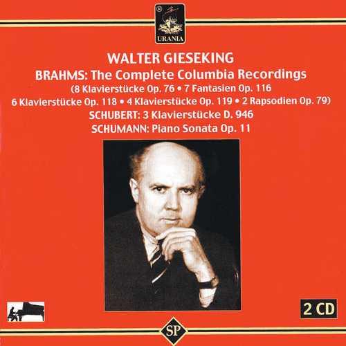 Gieseking: Brahms - The Complete Columbia Recordings, Schubert, Schumann (FLAC)