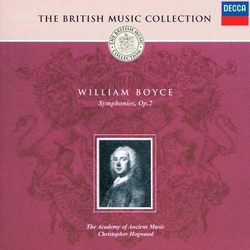 Hogwood: Boyce - Symphonies op.2 (FLAC)