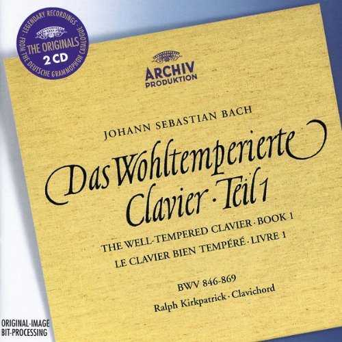 Kirkpatrick: Bach - Well-Tempered Clavier. Book I (2 CD, FLAC)
