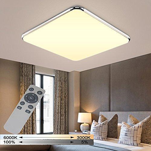 YESDA 36W 48W 64W 72W Dimmbar LED Deckenleuchte Badleuchte Deckenlampe Flurleuchte LAMPE Licht