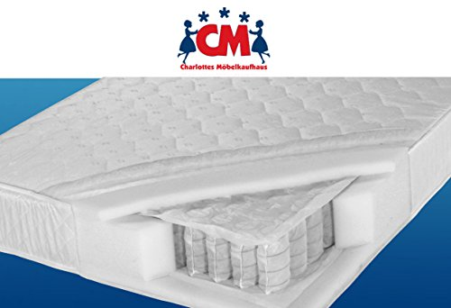 Tonnen-Taschenfederkernmatratze 160x200 cm Florence Plus Qualitätsmatratze Tonnentaschenfederkern Matratze H2. Klimafaser, atmungsaktiv, ca. 17 cm hoch. Matratze 160 x 200 cm.