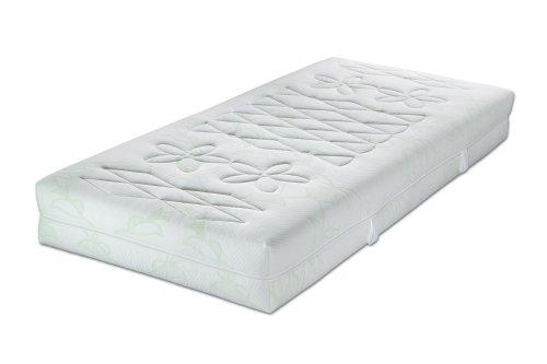 Malie A1001242502 Primavera Greenfirst, Kaltschaummatratze, weiß, Härtegrad: 1, 90x200 cm