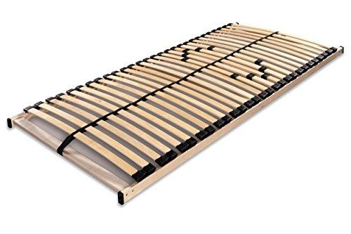 Betten ABC Lattenrost Max1 NV / Montierter Lattenrahmen in 100 x 200 cm mit Mittelzonenverstellung und 28 Leisten - geeignet für alle Matratzen
