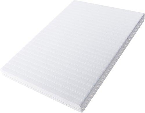 Hilding Sweden Essentials Schaumstoffmatratze in Weiß / Mittelfeste Matratze mit orthopädischem 7-Zonen-Schnitt für alle Schlaftypen (H2-H3) / 200 x 140 x 16 cm