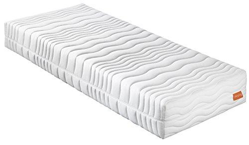 sleepling 190156 Matratze Innovation 400 XXL Wellness Visco-Gelschaum medium Härtegrad 2,5 90 x 200 cm, weiß