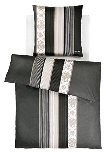 Joop 4022 Ornament Stripe Schwarz Bettwäsche-Set