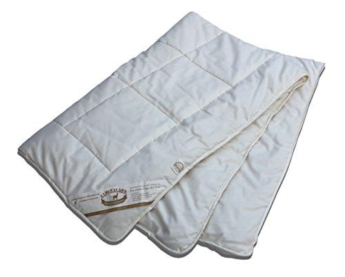 Gesünder schlafen: Alpaka Bettdecke Bio Füllmenge: 1400g + 700g - Steppdecke Natur aus 100% Alpakawolle, antiallergen, gefertigt in Deutschland (4JZ 135x200cm)
