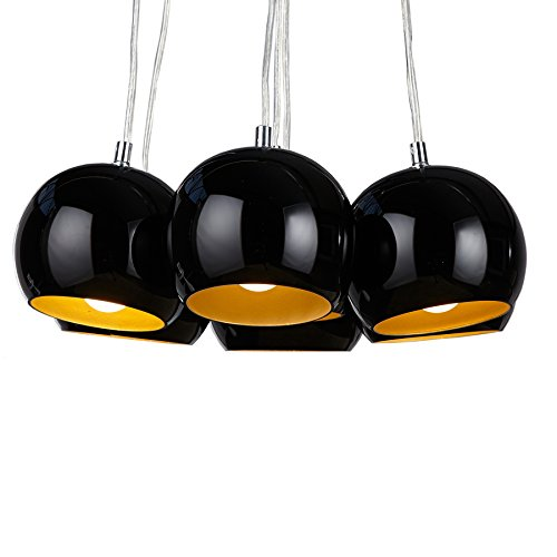 Hängeleuchte Hängelampe Pendelleuchte Retrodesign schwarz/gold