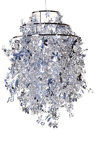 Invicta Interior Primavera Außergewöhnliche Hängelampe silber 45 cm