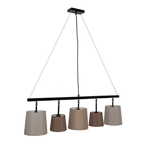 Moderne Hängeleuchte LEVELS 100cm weiß braun beige Pendelleuchte Leinen Design by KARE Deckenlampe E14 Hängelampe