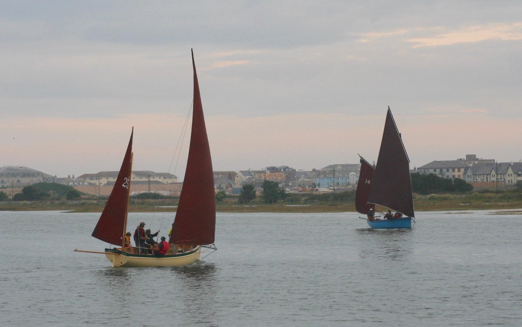 Axe Yacht Club Cadets Enjoy Luggers River Race