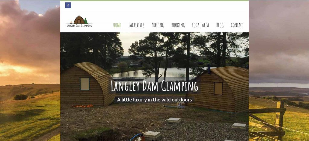 Langley Glamping Homepage