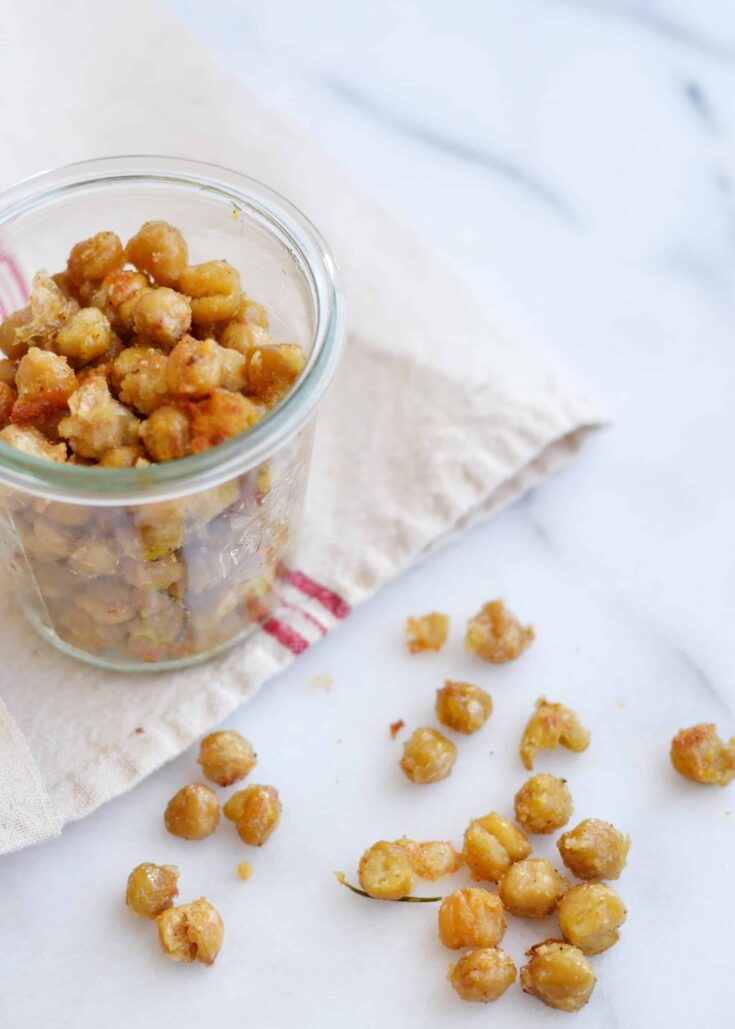 Oven Roasted Garlic Parmesean Chickpeas