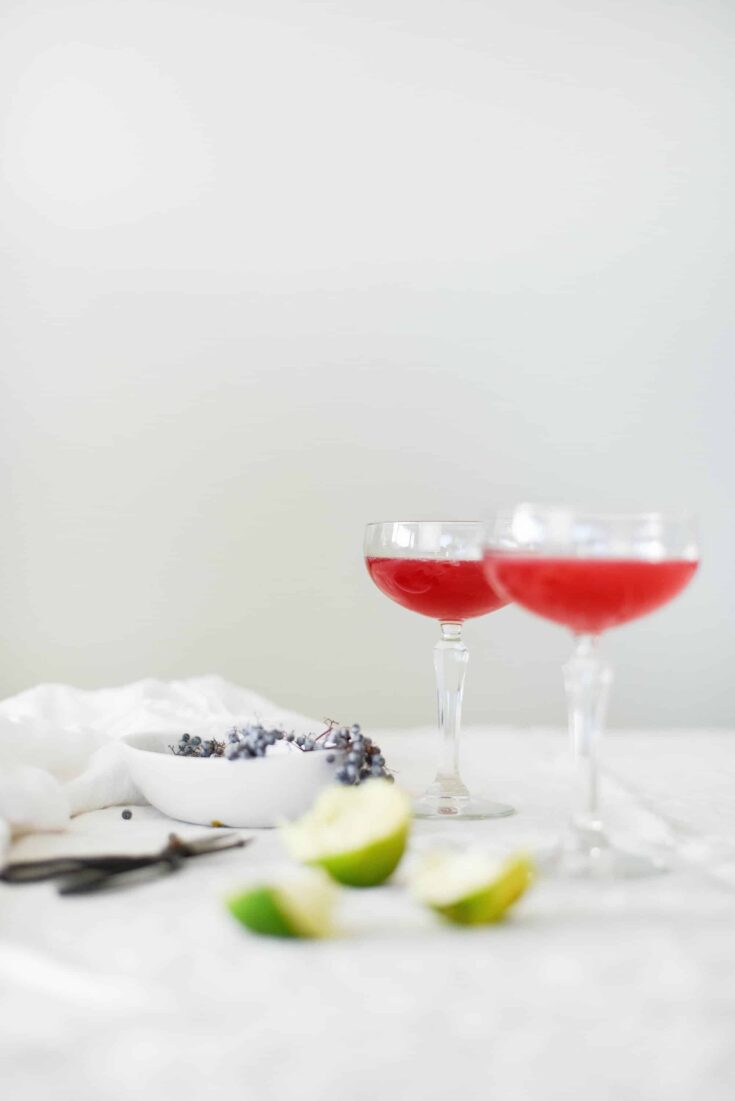 Elderberry Syrup Cocktail