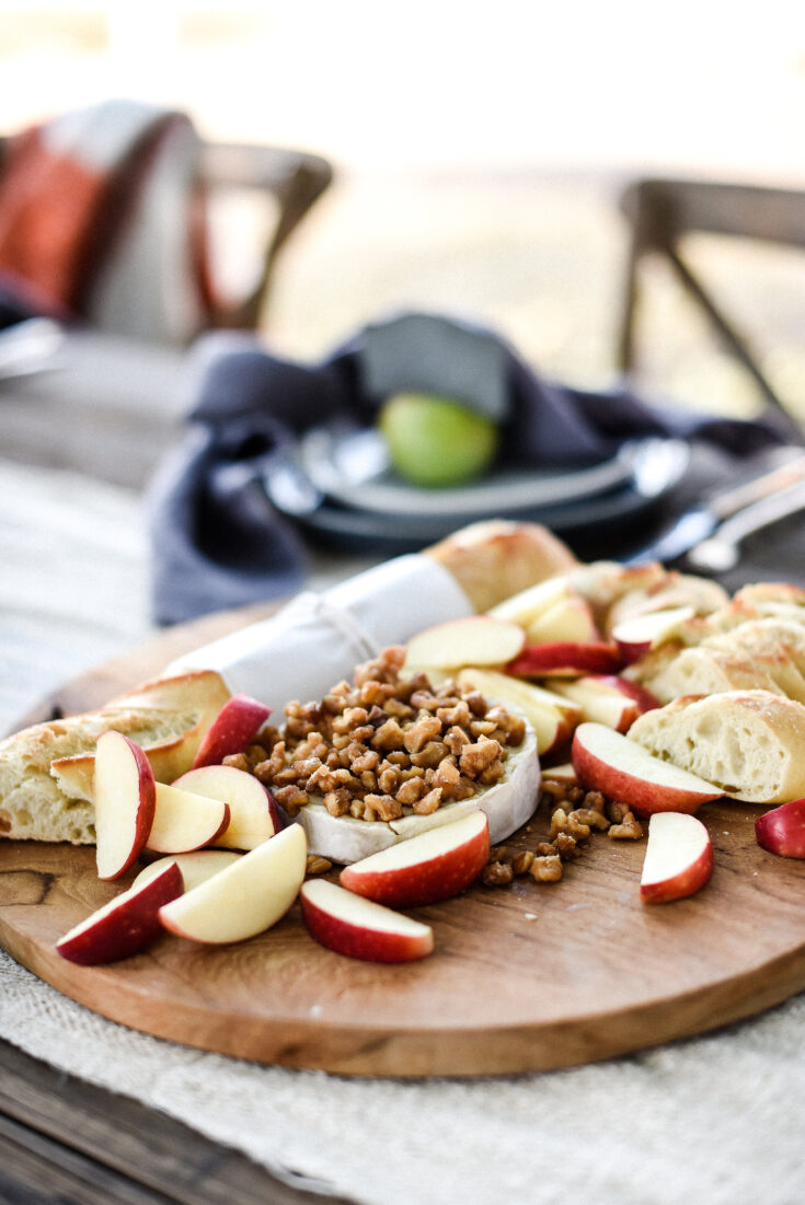 Easy Appetizer: Warm Brie with Candied Walnuts
