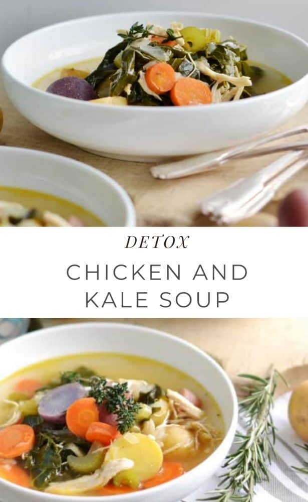 Detox Chicken and Kale soup