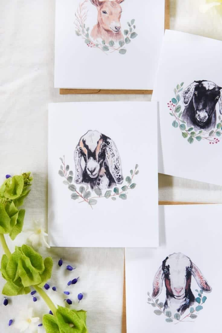 Free Printable Goat Greeting Cards