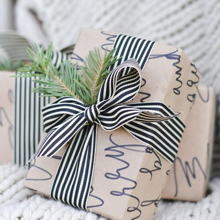 DIY Calligraphy Wrapping Paper Idea