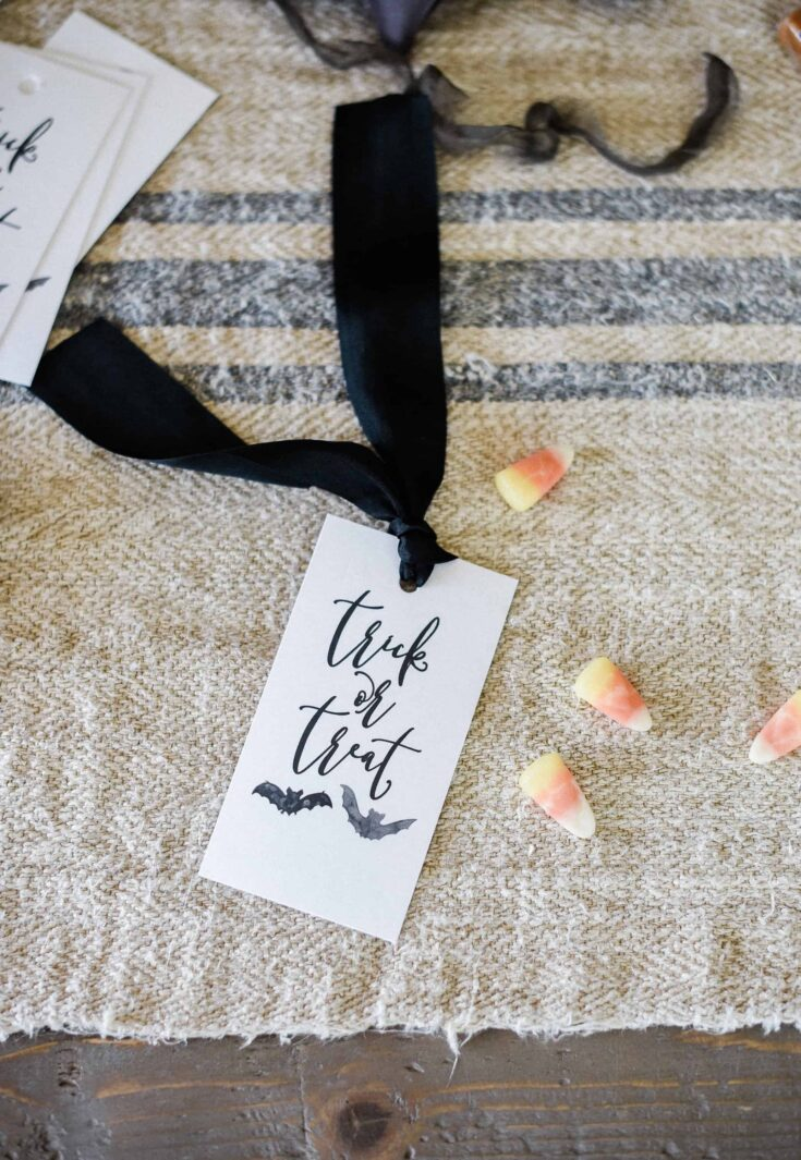 Spooky Halloween Printable Trick-or-Treat Tags