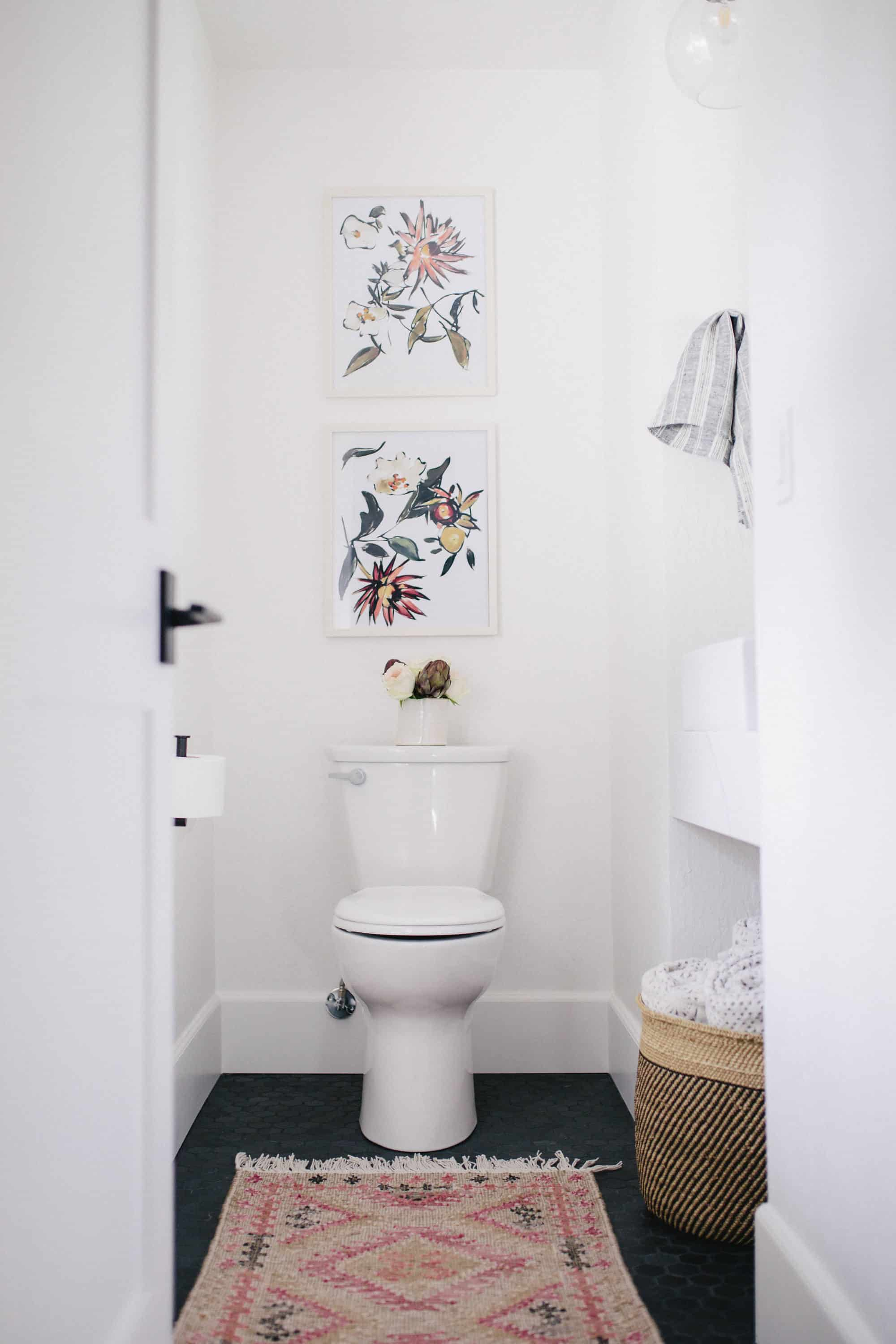 This small bathroom remodel takes shape in a former hallway! You'll love this small bathroom renovation idea!