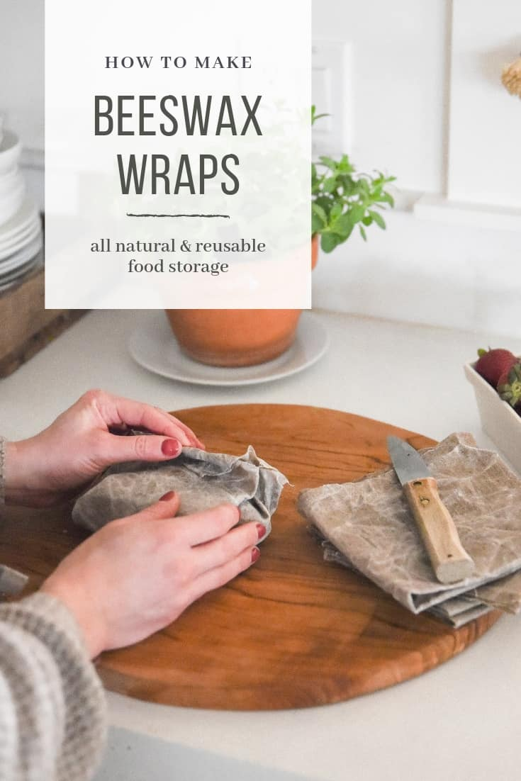 Learn how you can make your own Bee's Wrap with this DIY beeswax wrap tutorial! This is a great sustainable alternative to plastic wrap!