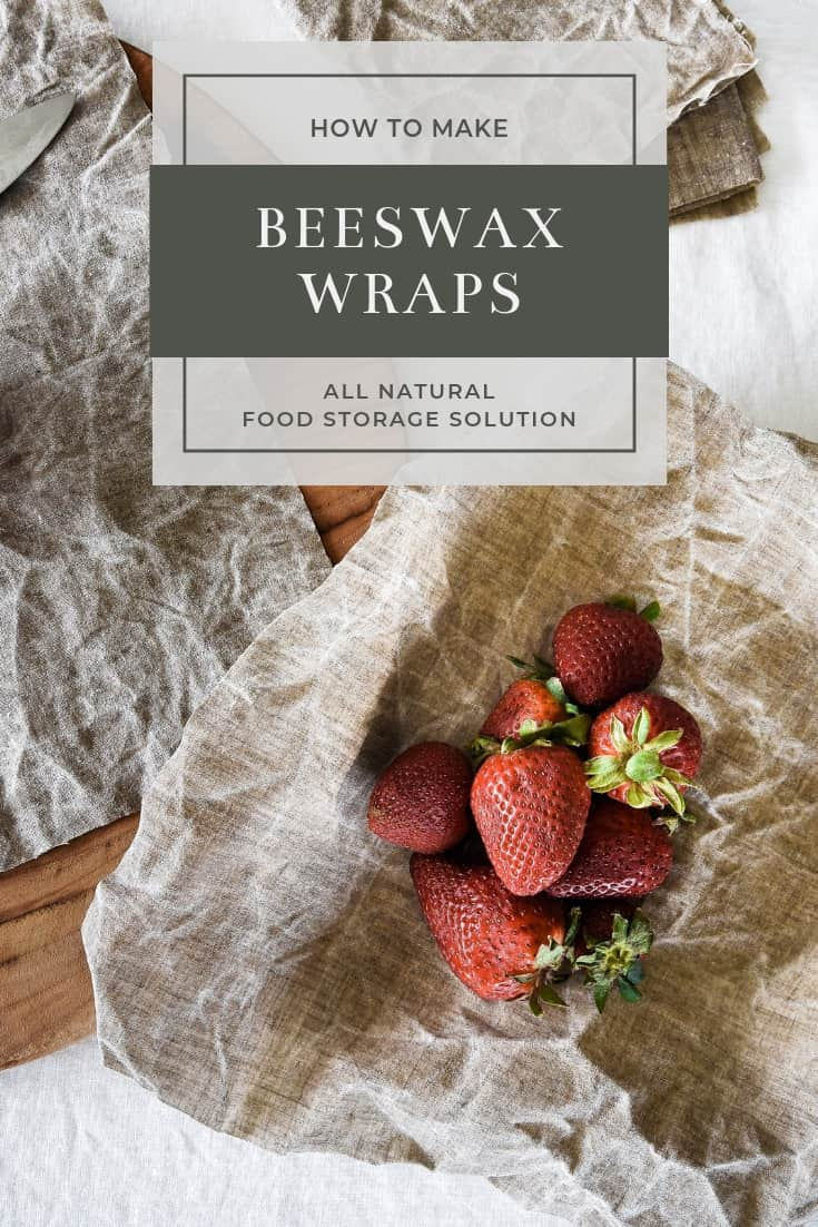 Learn how you can make your own Bee's Wrap with this tutorial! This is a great sustainable alternative to plastic wrap!