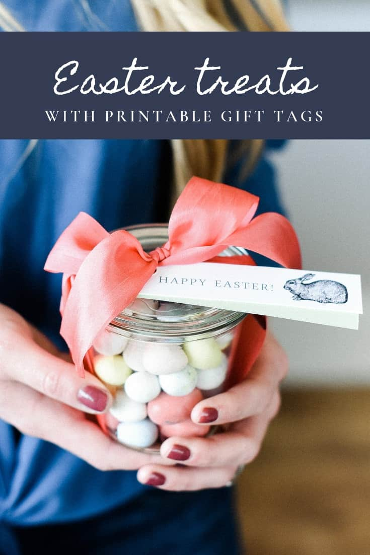 Easter treats are made even sweeter with these free printable gift tags! Make Easter bark and finish it off with printable gift tags! Plus scroll down for links to over 25 darling spring printables!