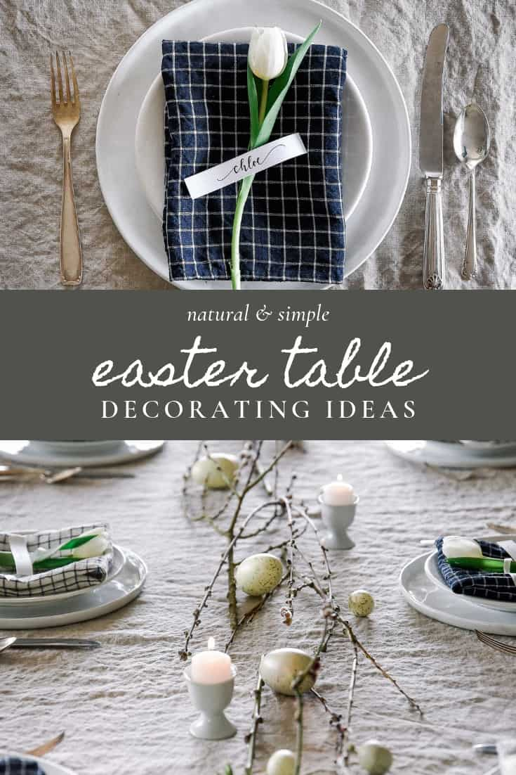 Get inspired to decorate for Easter this year with these easy Easter decorating ideas! This Easter table is beautiful and perfect for an Easter lunch with family or friends.