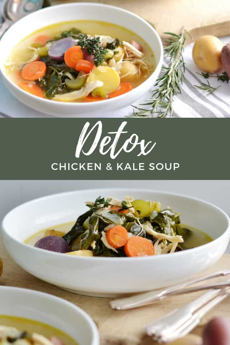 This delicious and healthy soup is the perfect way to detox in the new year! Packed with tons of vegetables, lean chicken, and flavor! The whole family will love this nourishing soup!