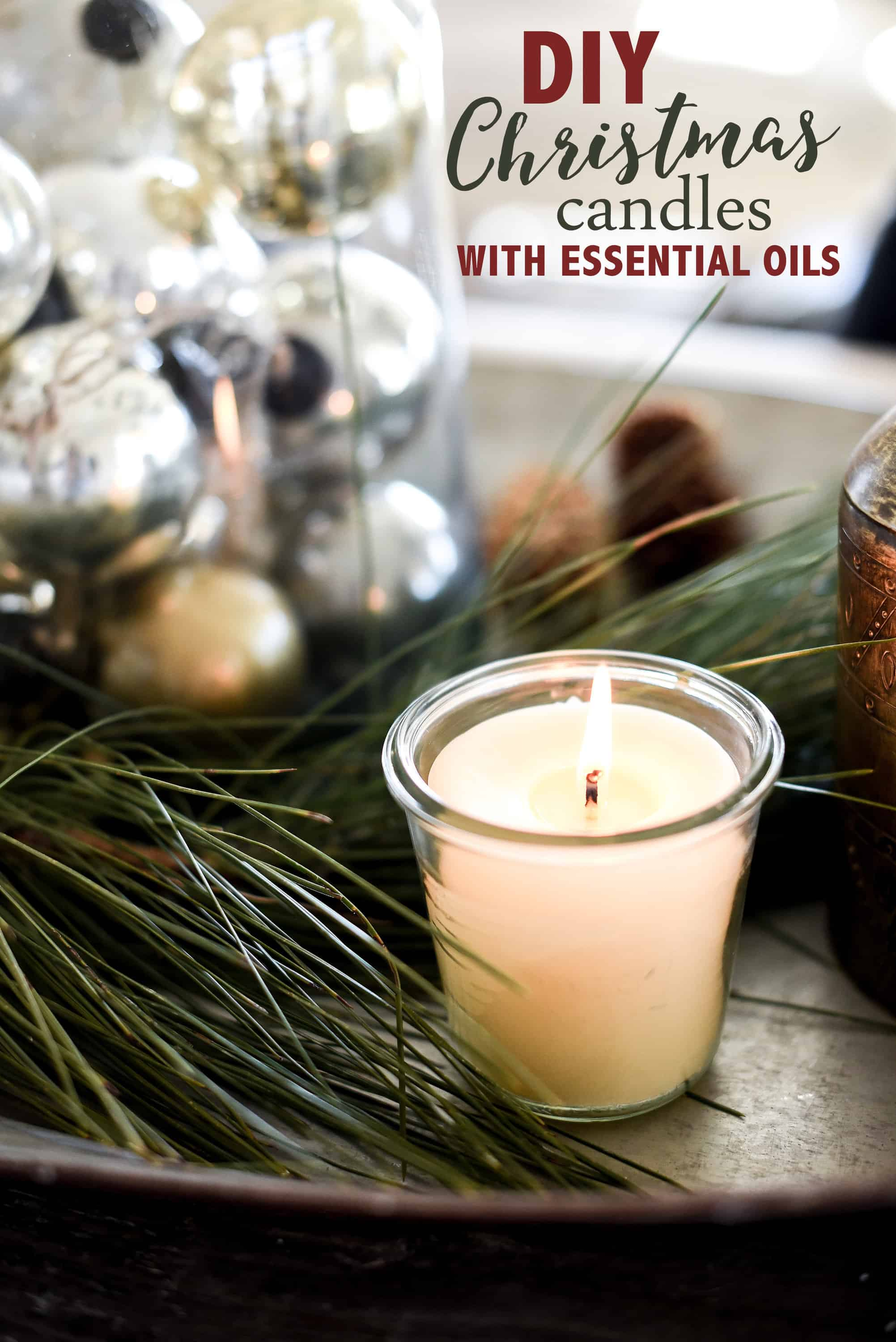 Need a handmade Christmas gift idea? You won't believe how easy it is to make all-natural homemade candles!