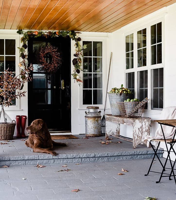 20 Simple ideas for decorating your front porch this fall! Everything from pumpkins to mums, you will be inspired!