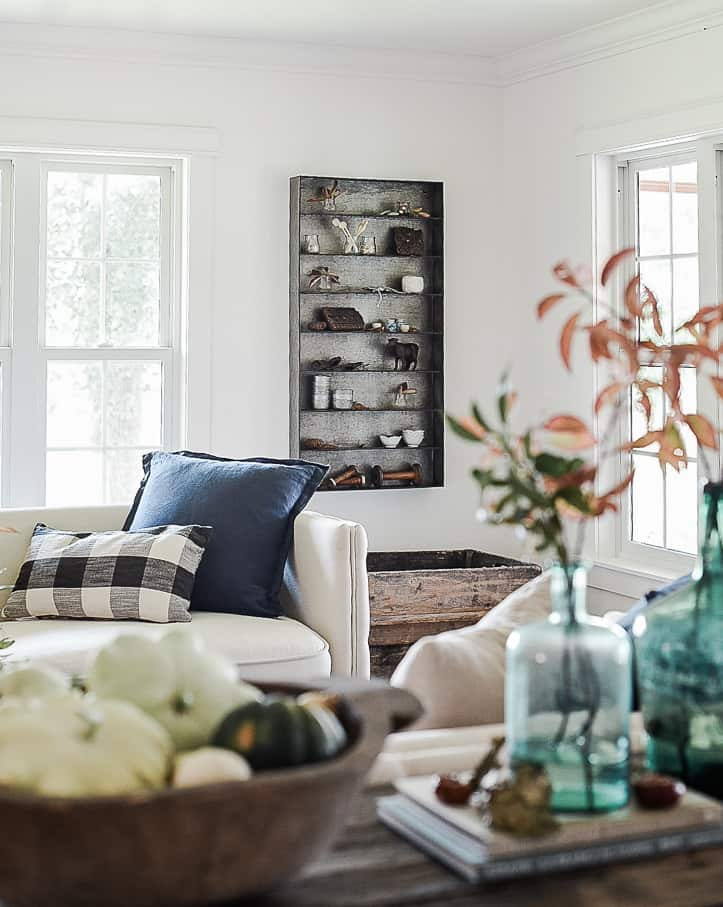 Fall Decorating Ideas Farmhouse Living Room Boxwood Ave