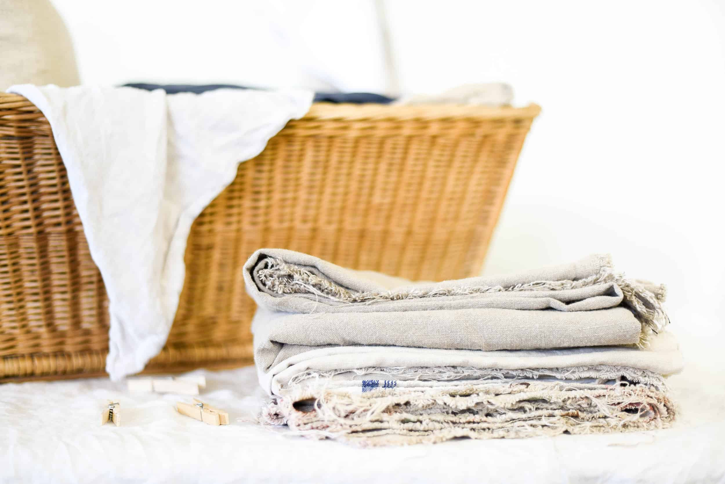linen in a basket