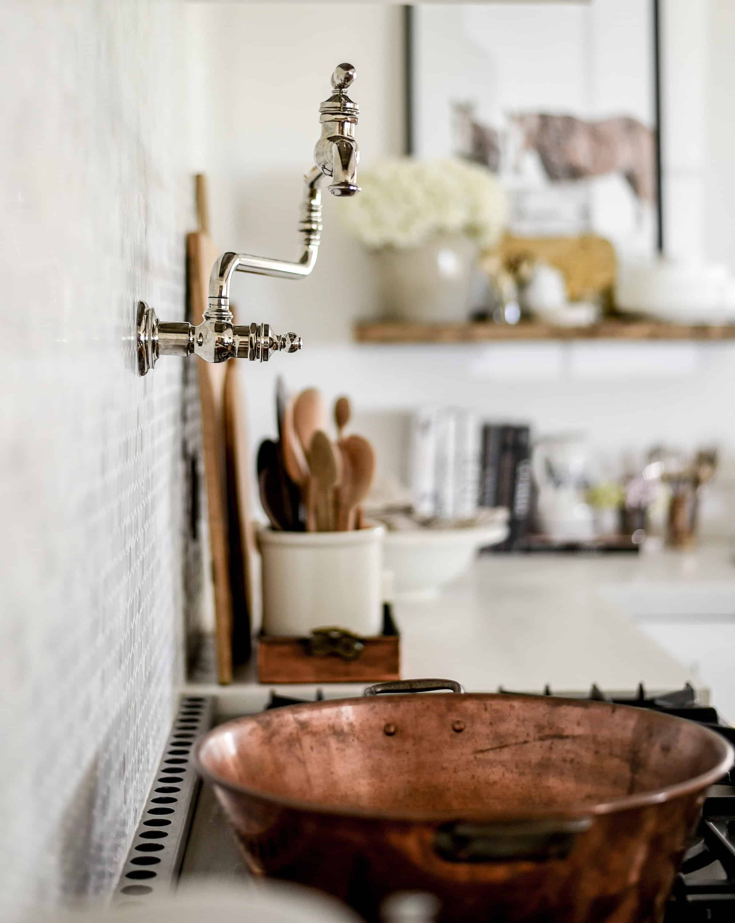I mentioned that when we began remodeling, someone from the Kohler team reached out to see if I might be interested in collaborating with them in our kitchen. Since I had already fallen in love with their extra wide, extra deep apron front sink, I was happy to jump on board to create our farmhouse kitchen with their designs.