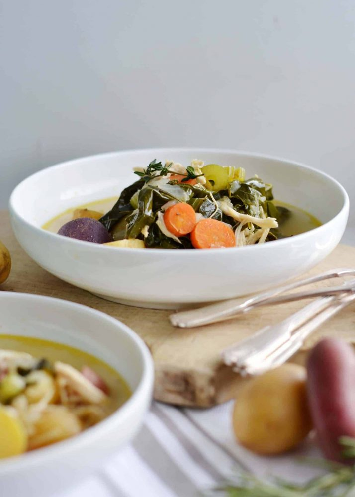 Chicken and Vegetable soup for healthy eating