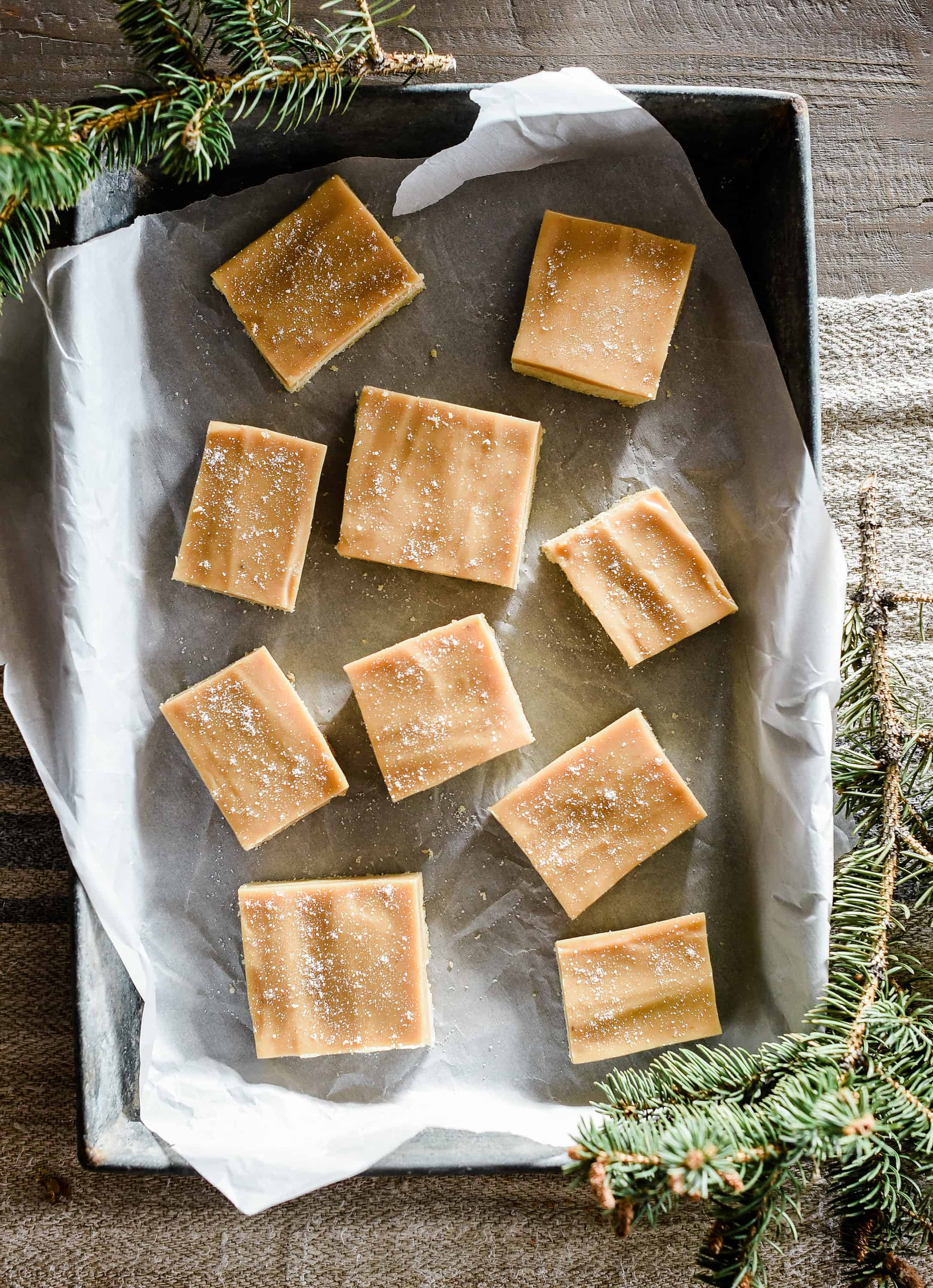Best Christmas Desserts: Salted Caramel Shortbread bars